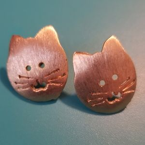 Vintage Cat Stud Earrings